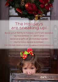 Timeline For Holiday Portraits