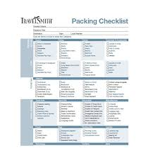 Packing List For Vacation Template 40 Awesome Printable Packing Lists College Cruise
