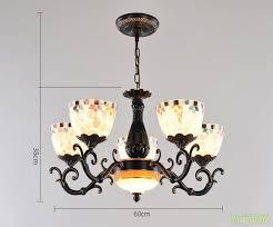 mediterranean style chandeliers suspension hanging light led black
