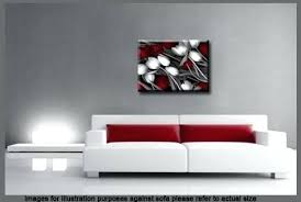 red white grey canvas tulips floral flower wall art picture and black on black and white tulip wall art with red and black canvas wall art pinable