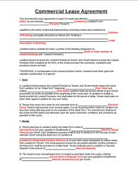 Template Lease Top 4 Free Commercial Lease Agreement Templates And Tips
