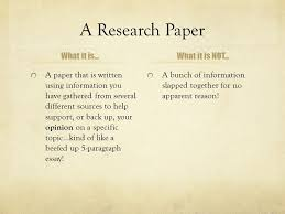 putting together an argumentative research paper ppt a research paper what it is what it is not