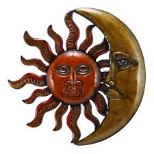 woodland imports metal sun and moon wall dcor digs decor large art woodland s