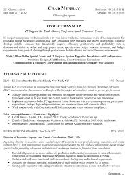 Experienced It Project Manager Resume Sample It Resum