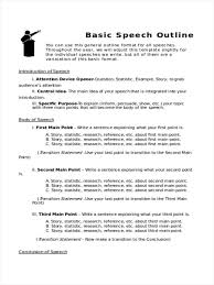outline in word basic speech outline example