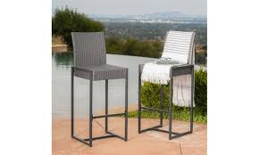 conrad outdoor wicker bar stools 2 or 4 piece