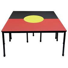 school rectangle table. Aboriginal Flag Table School Rectangle P