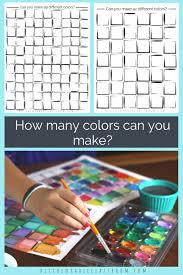 How To Make Color Mixing Chart Color Mixing Chart Six Printable Pages For Learning About