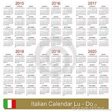 Calendar 2015 2020 Cartoon Vector Cartoondealer Com 44552753