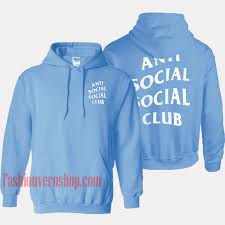 Anti Social Social Club Hoodie Size Chart Anti Social Social Club Light Blue Hoodie Unisex Adult Clothing