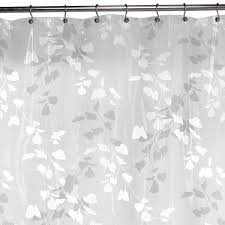 maytex linden leaf peva shower curtain white 32