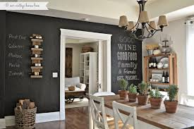 Rustic Interior Style Chalk Wall Paint Ideas Wooden Dining Table Chalkboard  Decorations Breathtaking Ideas ...