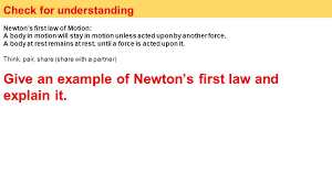 newton 39 s first law definition. check for understanding newton\u0027s first law of motion: a body in motion will stay newton 39 s definition