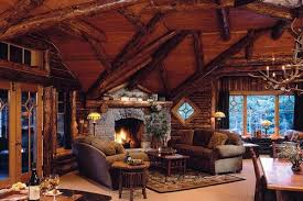 Log cabin interiors designs Modular Abstract Log Beams Match Ceiling Angles Steel Log Siding 27 Log Cabin Interior Design Ideas Trulog Siding