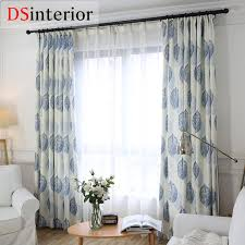 dsinterior modern design cotton linen curtain for bedroom window custom made