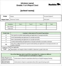 Report Card Template Pdf Report Card Template Template Business