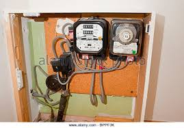 electric meter stock photos electric meter stock images alamy an old fashioned electric meter normal and low rate readings in the uk stock