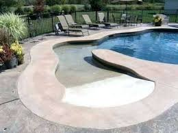 beach entry pool cost swimming pool zero entry fiberglass beach cost slope beach entry fiberglass pool