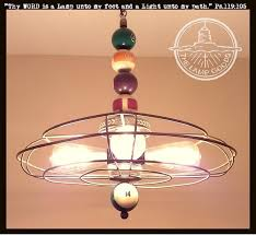 unique chandelier lighting. Unique Light Fixture With Antique Billard Pool Balls \u0026 Cage Chandelier Lighting N