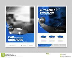 Electronic Brochure Template Car Dealership Brochure Automobile Showroom Stock Vector