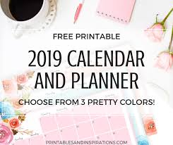 Monthly Planner Free Download 2019 Horizontal Calendar Weekly Planner Printables And