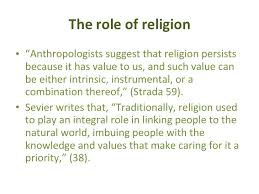 religion and the environment   the role of religion