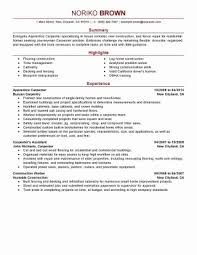 Carpenter Resume Stunning Sample Carpenter Resume Canada Elegant Carpenter Job Description
