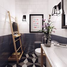 Cool Geometric Nordic Bathroom