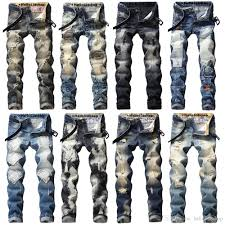 Mens Grey Designer Jeans 2019 Hello528shop Classic Retro Mens Designer Jeans Pants Long Distrressed Patches Straight Ripped Denim Trousers Man Homme From Hello528shop 31 18
