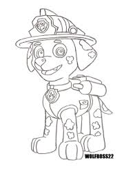 Small Picture Paw Patrol Coloring Pages Marshall Coloring Coloring Home