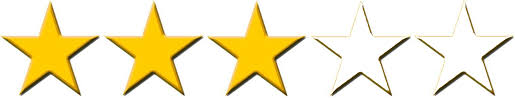 Image result for 3/5 stars