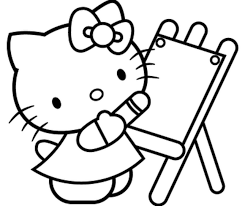 Hello Kitty Colring Sheets Free Printable Hello Kitty Coloring Pages For Kids Coloring