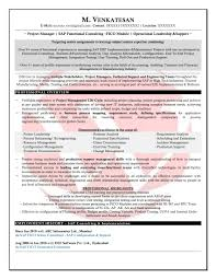 Sap Fico Sample Resumes Download Resume Format Templates