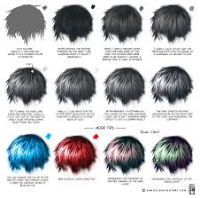 semi realism hair tutorial
