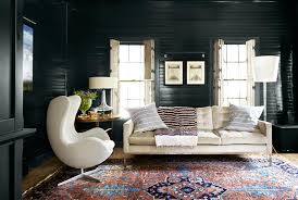 oriental rugs black wall living room
