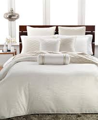 details about hotel collection woven texture f queen duvet cover solid ivory stripe off white