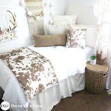 dorm room bedding sets hot dorm room bedding inspired tan cowhide designer dorm bedding set dorm