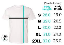 Sizing Chart Casual Envy Apparel