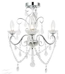ip44 3 light bathroom chandelier in chrome with crystals for decorative bathroom lighting