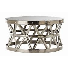 hammered drum cross silver coffee table antique silver coffee table