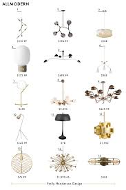 crosby collection large pendant light. All Modern Emily Henderson Design Lighting Roundup Copy Crosby Collection Large Pendant Light