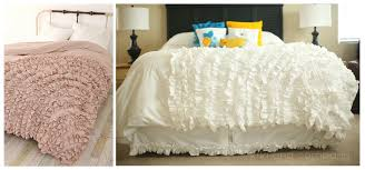 ruffle duvet cover king sweetgalas let s the duvet a quick tutorial and little q kiki company