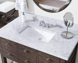 U1812 White Rectangular Bathroom Sink