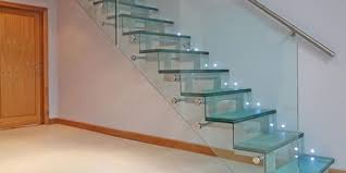 stair glass railing design ss home