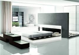 modern platform bed with lights. White Black Lacquered Walk-on Platform Bed With Lights Modern