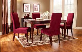 red dining room chair covers for your best design dark wood dining