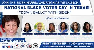 "National Black Voter Day ""Down Ballot with Biden"" · 2020 Victory"