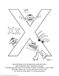 You can mix and match them in order to preserve continuity and attention. Free Alphabet Coloring Pages Letter X The Momemans