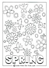Color Pages For Spring Free Printable Preschool Coloring Sheets