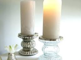 silver pillar candle holders holder large mercury glass uk